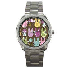 Bunny  Sport Metal Watch by Kathrinlegg