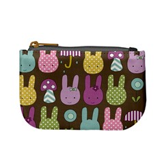 Bunny  Coin Change Purse by Kathrinlegg