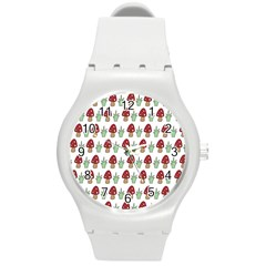 Mushrooms Plastic Sport Watch (medium) by Kathrinlegg
