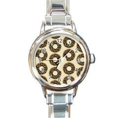 Donuts Round Italian Charm Watch by Kathrinlegg