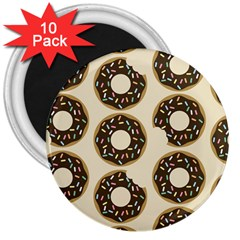 Donuts 3  Button Magnet (10 Pack) by Kathrinlegg
