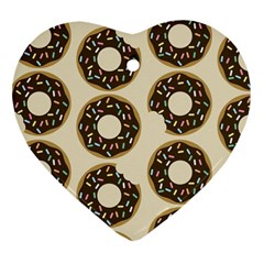 Donuts Heart Ornament (two Sides) by Kathrinlegg