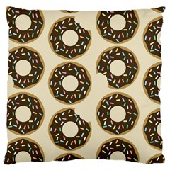 Donuts Large Cushion Case (two Sided)  by Kathrinlegg