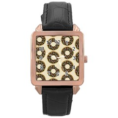 Donuts Rose Gold Leather Watch  by Kathrinlegg