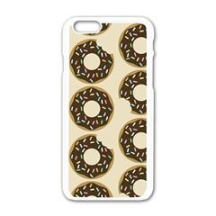 Donuts Apple Iphone 6 White Enamel Case by Kathrinlegg