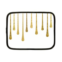 Gold Glitter Paint Netbook Sleeve (small) by Kathrinlegg