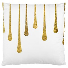 Gold Glitter Paint Large Cushion Case (two Sided)  by Kathrinlegg
