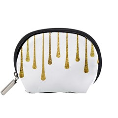 Gold Glitter Paint Accessory Pouch (small) by Kathrinlegg