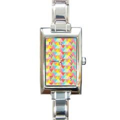 Triangle Pattern Rectangular Italian Charm Watch by Kathrinlegg