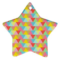 Triangle Pattern Star Ornament by Kathrinlegg