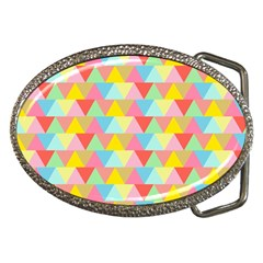 Triangle Pattern Belt Buckle (Oval) by Kathrinlegg