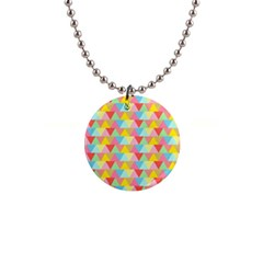 Triangle Pattern Button Necklace by Kathrinlegg