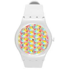 Triangle Pattern Plastic Sport Watch (medium) by Kathrinlegg