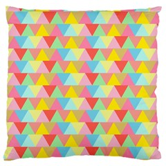 Triangle Pattern Large Cushion Case (two Sided)  by Kathrinlegg