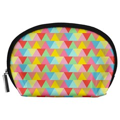 Triangle Pattern Accessory Pouch (large) by Kathrinlegg