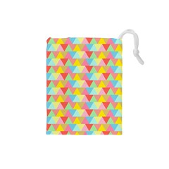 Triangle Pattern Drawstring Pouch (small) by Kathrinlegg