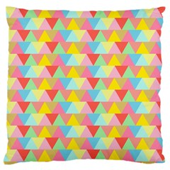 Triangle Pattern Standard Flano Cushion Case (One Side) by Kathrinlegg