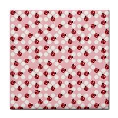 Spot The Ladybug Ceramic Tile by Kathrinlegg