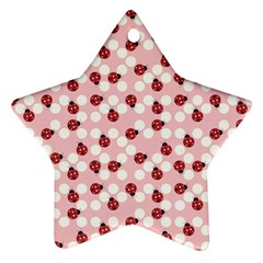 Spot The Ladybug Star Ornament (two Sides) by Kathrinlegg