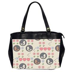 Love Birds Oversize Office Handbag (two Sides) by Kathrinlegg