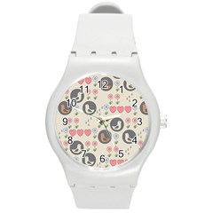Love Birds Plastic Sport Watch (medium) by Kathrinlegg