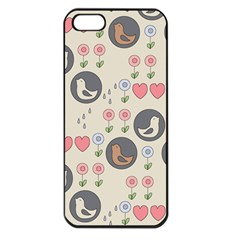 Love Birds Apple Iphone 5 Seamless Case (black) by Kathrinlegg