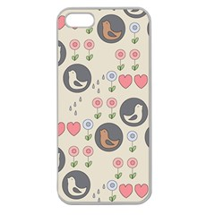 Love Birds Apple Seamless Iphone 5 Case (clear) by Kathrinlegg