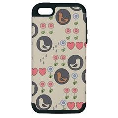 Love Birds Apple Iphone 5 Hardshell Case (pc+silicone) by Kathrinlegg
