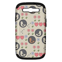 Love Birds Samsung Galaxy S Iii Hardshell Case (pc+silicone) by Kathrinlegg