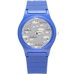 Garden In The Sky Plastic Sport Watch (small) by Kathrinlegg