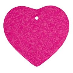 Abstract Stars In Hot Pink Heart Ornament by StuffOrSomething