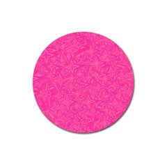 Abstract Stars In Hot Pink Magnet 3  (Round) by StuffOrSomething