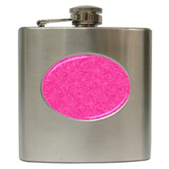 Abstract Stars In Hot Pink Hip Flask by StuffOrSomething