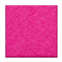 Abstract Stars In Hot Pink Face Towel by StuffOrSomething