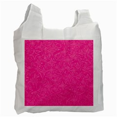Abstract Stars In Hot Pink White Reusable Bag (two Sides) by StuffOrSomething