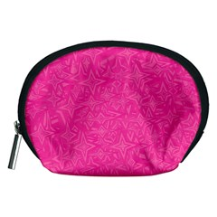 Abstract Stars In Hot Pink Accessory Pouch (medium) by StuffOrSomething