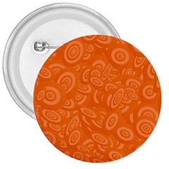 Orange Abstract 45s 3  Button by StuffOrSomething