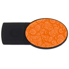 Orange Abstract 45s 4gb Usb Flash Drive (oval) by StuffOrSomething