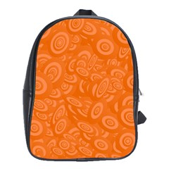 Orange Abstract 45s School Bag (large) by StuffOrSomething