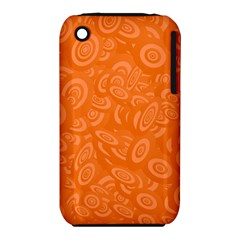 Orange Abstract 45s Apple Iphone 3g/3gs Hardshell Case (pc+silicone) by StuffOrSomething