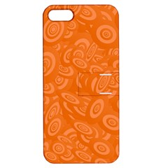 Orange Abstract 45s Apple Iphone 5 Hardshell Case With Stand by StuffOrSomething