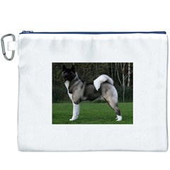Akita Full Canvas Cosmetic Bag (XXXL) by TailWags