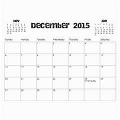 The Addams Family Calendar By Joey Mcdaniel   Wall Calendar 11  X 8 5  (18 Months)   Ne3mavok818e   Www Artscow Com Dec 2015