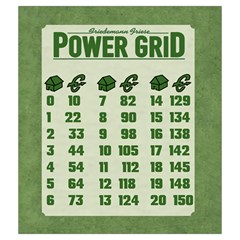 Power Grid Bags (m)   Green By Andrew   Drawstring Pouch (medium)   8n7wzg348qh5   Www Artscow Com Back
