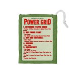 Power Grid Bags (M) - Red - Drawstring Pouch (Medium)