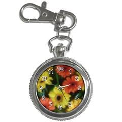 Orange Yellow Daisy Flowers Gerbera Key Chain Watch by yoursparklingshop