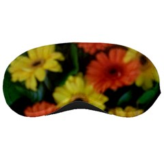 Orange Yellow Daisy Flowers Gerbera Sleeping Mask by yoursparklingshop
