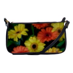 Orange Yellow Daisy Flowers Gerbera Evening Bag by yoursparklingshop