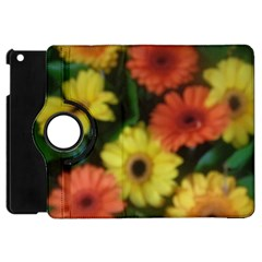 Orange Yellow Daisy Flowers Gerbera Apple Ipad Mini Flip 360 Case by yoursparklingshop