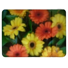 Orange Yellow Daisy Flowers Gerbera Samsung Galaxy Tab 7  P1000 Flip Case